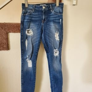 Guess ripped jeans